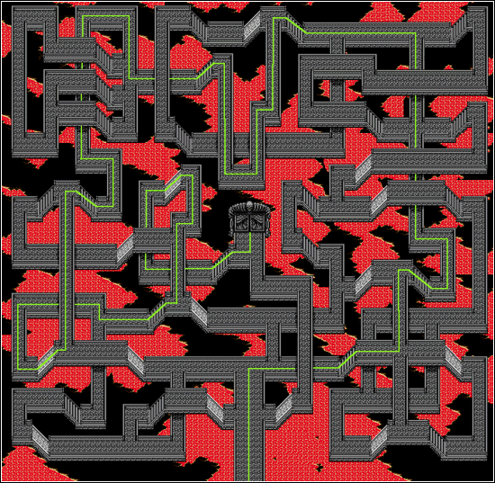 Map of the maze at Devil's Head in Shining Force II