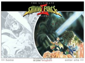 Screenshot of the old-look Ultimate Shining Force 2 Guide